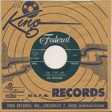 "LEE WILLIAMS ""I'M TORE UP"" DOO WOP RHYTHM & BLUES SP FEDERAL 45-12502"
