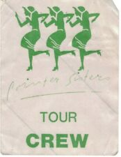 New ListingThe Pointer Sisters 1987 Crew Backstage Pass