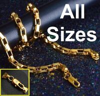 """18k Yellow Gold Link Chain Bracelet or Necklace 7"""" 71/2"""" 8"""" 9"""" 10"""" 20"""" 24"""" Sizes"""