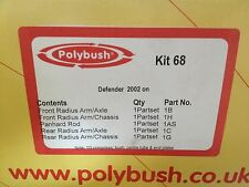 GENUINE POLYBUSH KIT 68 LANDROVER DEFENDER 2002 ON IN STOCK READY TO SEND