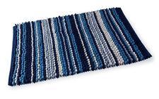 Acqua rayure bleue NAUTIQUE chenille Boucle Tapis de bain 55 x 85cm