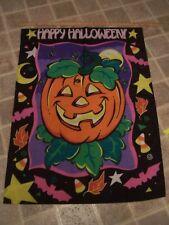 New listing Happy Halloween Pumpkin Patch Jack Lantern Treat Fall Large Yard Flag Banner