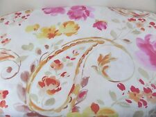 Cynthia Rowley Queen Size Duvet Modern Cottage Floral Paisley 100 Percent Cotton