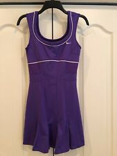 SERENA WILLIAMS rare NIKE statement TENNIS DRESS purple pleated flirty! Small