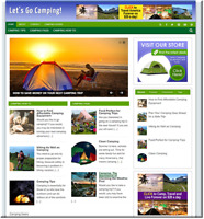 Camping affiliate  Turnkey Website Business earn from affiliate - adsense