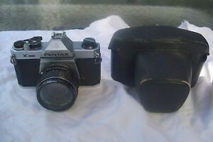VINTAGE ASAHI PENTAX K1000 WITH SMC PENTAX 1:2 55MM LENS AND CASE