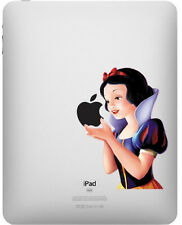 1X Snow White Eating Apple iPad 1/2/3 Vinyl Sticker Skin Decal Back Cover