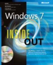 Windows 7 Inside Out, Craig Stinson, Carl Siechert, Ed Bott, Good Condition, Boo