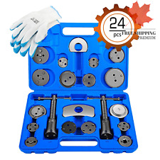 24pcs Heavy Duty Disc Brake Piston Caliper Compressor Tool Set and Wind Back ...