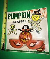 VINTAGE PUMPKIN Halloween Glasses Hong Kong MOC Scarce Design SPOOKY Read ALL