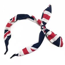 Union Jack Wide Ribbon Bow Bowknowt Rabbit Bunny Ears 1950s Rockabilly Wire