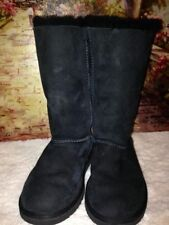 UGGS Kid Black Bailey Bow boots size 3