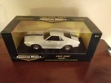 NEW in SEALED BOX! ERTL 1/18 1969 AMC AMX Limited Edition White Blue Metallic