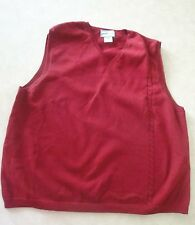 Pendleton Originals Ladies Size X-Large Red Knit Sweater Vest
