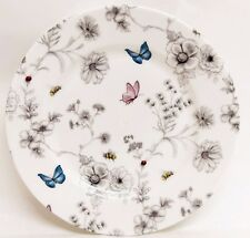 "Secret Garden Plates Set 6 Fine Bone China 6"" 15 cm Plated Decorated UK"