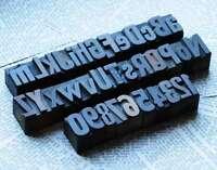 A-Z + 0-9 Alphabet MIX 27mm Holzbuchstaben Lettern Holzalphabet Stempel drucken