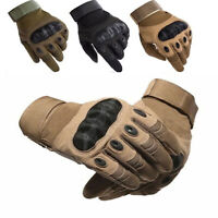Outdoor Tactical Hard Knuckle Full Finger Gloves-Army Military Combat Hunting