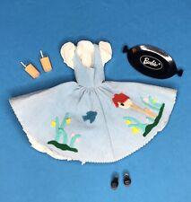Vintage Barbie #979 FRIDAY NITE Night DATE ©1961 COMPLETE w/ Straws & Fizz