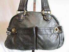 MARC by MARC JACOBS Large Black Leather Turnlock Satchel Shoulder Tote Handbag