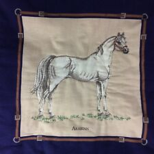 "Arabian Horse Pillow Sham Cover Equestrian Rider Western  13 1/4"" x 13 1/4"""