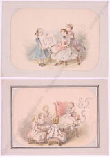 """""""Letters of the Alphabet"""", Two Drawings from a German Noble Collection, ca.1850"""