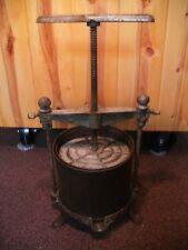 Antique Fruit and Lard Press Classic No.3 Wine Press 10 Quart Cast iron