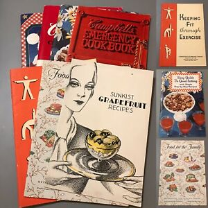 Lot Of 7 Vintage Recipe Cook Booklets And More Sunkist Campbell's Ralston