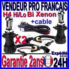 2 AMPOULE LAMPE FEU CABLE POUR KIT AU BI XENON HID H4 -3 Hi/Lo EN 6000k 35W 12V