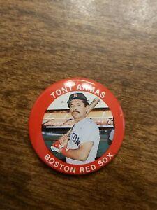 VINTAGE 1984 FUN FOODS Tony Armas Boston Red Sox PIN BUTTON # 24