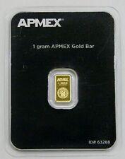 APMEX - 1 Gram .9999 Fine Gold Bar - Sealed in Card