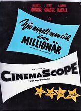 Wie angelt man sich einen Millionär (Foto '53) -Titelkarte / Marilyn Monroe