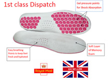 Sport Soft Work Boots Gel Insoles Shoe Inserts Orthotic Arch Support Feet Pads