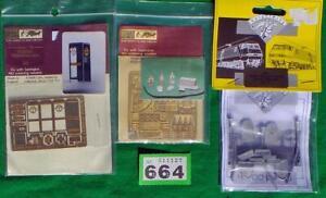 G664 Shire Scenes 00 brass kits Gravestones + telephone box + station approach
