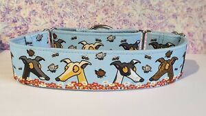 Flutterbies and bees by James Hardy . 50mm Martingale Collar. Greyhound