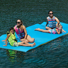 Layer Floating Oasis Water Pad Island Water Sports Mat Float Pad Yellow/Blue
