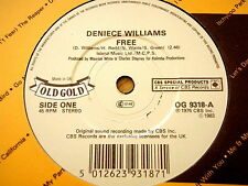 "DENIECE WILLIAMS - FREE / THAT'S WHAT FRIENDS ARE FOR  7"" OLD GOLD VINYL"