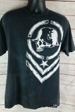 Metal Mulisha Motorcross Biker Graphic T-Shirt Black Men Size L Large Shirt