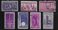 US Scott #852-58, Singles 1939 Complete Year FVF Used