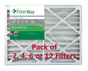 FilterBuy 20x25x4 Air Filters, Pleated Replacement for HVAC AC Furnace (MERV 8)