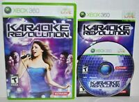 Karaoke Revolution (Microsoft Xbox 360, 2009) Complete Video Game MINT