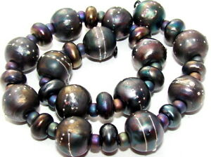 "Sistersbeads ""F-Metallic"" Handmade Lampwork Beads"