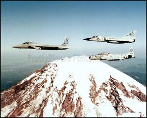 F-15 Eagle F-106 Delta Dart T-33 Shooting Star 1983 8x10 Aircraft Photos