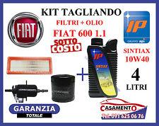 KIT TAGLIANDO OLIO MOTORE IP 10W40 + FILTRI FIAT 600 SEICENTO 1.1 --->09/2000