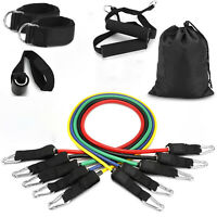 11 PCS Fitness Resistance Bands Set Home Gym Exercise Tube Band Training