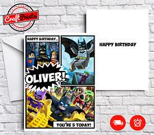 Lego Batman Personalised Birthday Card