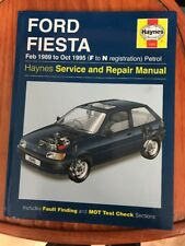 Ford Fiesta Feb 1989 to Oct 1995 Petrol ( F to N Reg) Haynes Manual # 1595