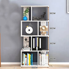White Book Shelf Unit Bookshelf Tall KIds Cabinet Bookcase Storage Rack 8 Cube
