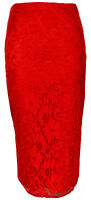 Lace Floral Pencil Bodycon Womens Tube High Waist Midi Skirt Ladies Size 8-16