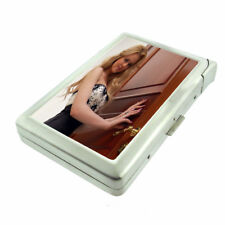 Russian Pin Up Girls D1 Cigarette Case with Built in Lighter Metal Wallet