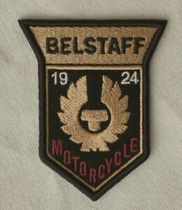 Belstaff Motorcycles 1924 Patch (70 mm) Embroidered Iron/Sew-on Badge Biker NEW